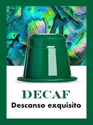 banner Decaf: cápsula de café descafeinado